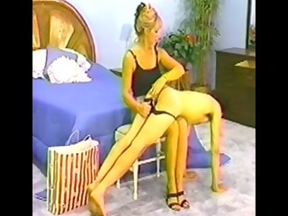 fellow spanked in panties by super hawt