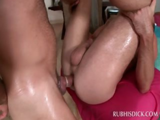 homosexual hardcore anal fucking on the massage