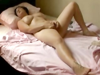 my hot mum fingering on her bed. hidden web camera