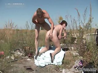 immodest aged wife bows over and receives part5
