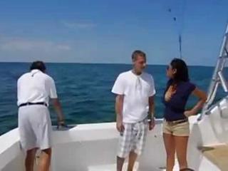 priya rai on a boat