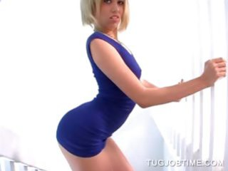 cook jerking giver golden-haired playgirl showing