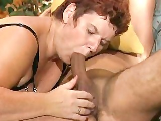 bulky older german lady enjoys a hard rod dbm