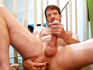 fine unshaved lad shows jock and a-hole