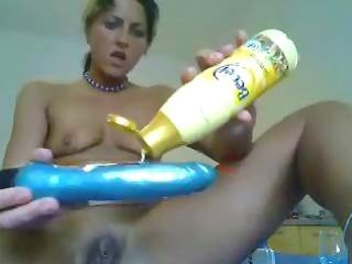 pervert girlfriend home alone having anal fun.