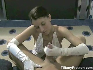 white satin glove handjob-tiffanypreston