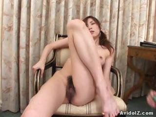 hawt oriental wench double oral job and cum