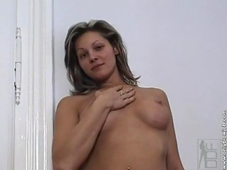 caroline cage gets in nature and takes a big hard