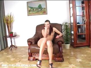 suzie plays with large fake penis