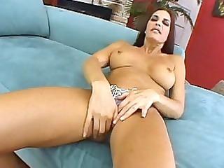 busty cheyenne rubbing her fur pie