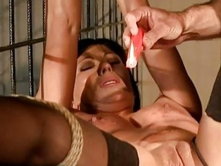 brunette hair getting painfully punished