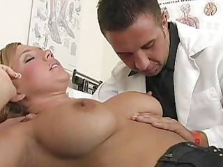 pleasing breasty golden-haired patient acquires