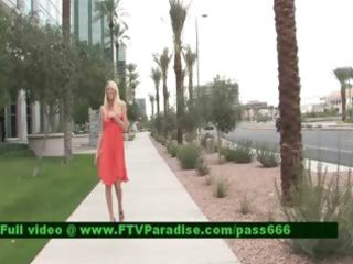 inventive shy blond public flashing