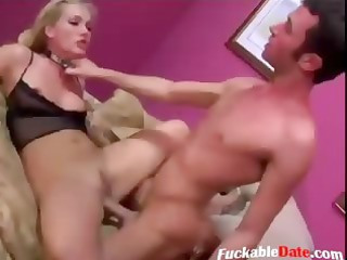 blond whore receives anal and play with sex toys