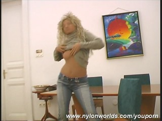 breasty nylon hottie mimmi