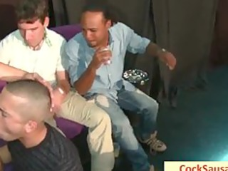 Group of guys all drunk getting sausaged part5