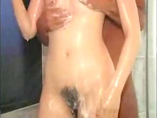 japanese hotty copulates in shower and couch