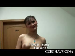 non-professional czech knows threesome engulfing
