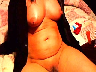 sexually excited housewife playing with herself