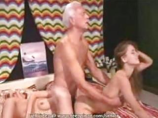 bikini sweetheart seduces a senior dude