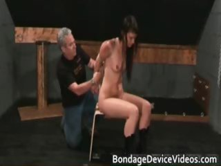 Bondage sex video with cute chick tied part3
