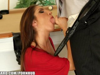nice-looking dark brown hotty rides the huge dong