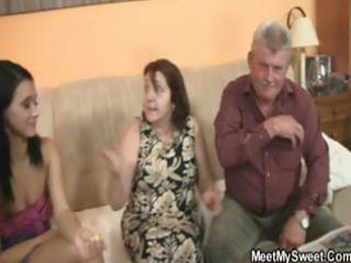 boyfriend leaves and his parents entice his
