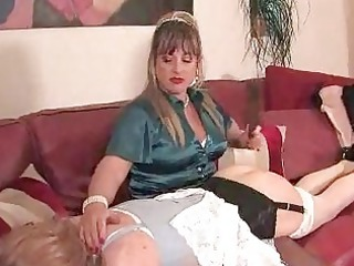 sissy receives booty electrocuted by bitch goddess