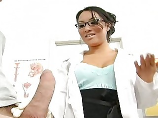 oriental breasty doctor fucking her bigcock