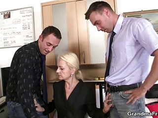 she is swallows dicks for work