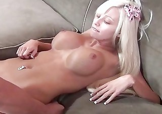 rikki six has her hairless nude cookie routed by