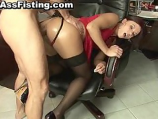 excited bitch acquires her gaping rectal hole