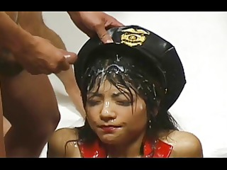Asian Bukkake - 87 Cumshots on One face -