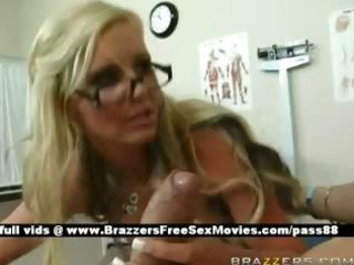 charming blone whore at work receives a blow job