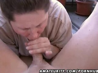 bulky dilettante wife homemade oral sex and fuck