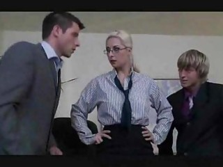 the boss lady has a bi sexual three-some