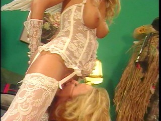 cupids sister takes large dildos from a mean