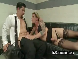 transsexual and boy engulfing to every other