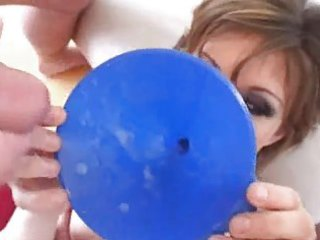 fuve cumshots in her blue funnel