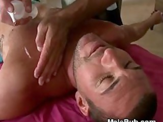 massage table booty licking and oiled up tugjob