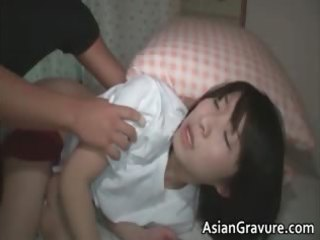 cute asian sweetheart receives boned hard from