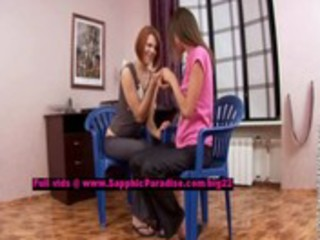 lilly and aly breathtaking lesbian cuties teasing