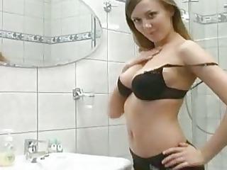breasty dark brown fingering on the latrine