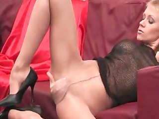 hot provocative sweetheart with lengthy legs in