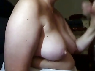 aged woman sucks pecker and acquires cum on her