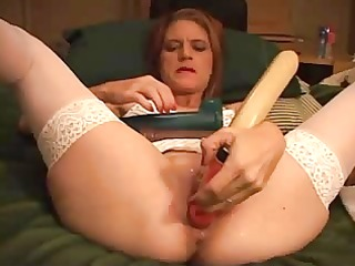 naughty angel and her sextoy filled twat