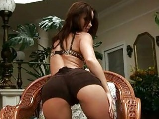 astonishing brunette hair with sexy a-hole