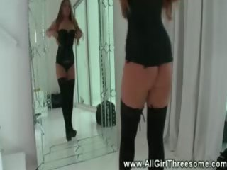 lesbian babes putting their sexy bodies into