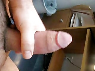 masturbation, large cumshot, and a bit of groaning