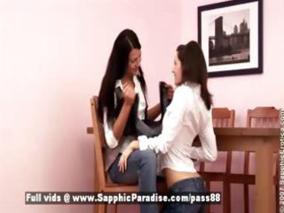 ayane and melissa breathtaking brunette hair